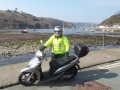 Sheltered harbour on a Green Dragon Scooter